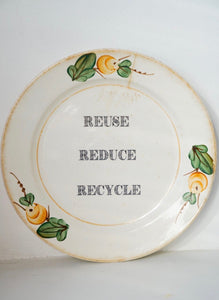 Reuse reduce recycle Plate - wall decor