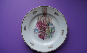 Flowers & Anatomy Plate - wall decor