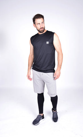 HEREN JOGGING SHORT ZWART M-1831-2