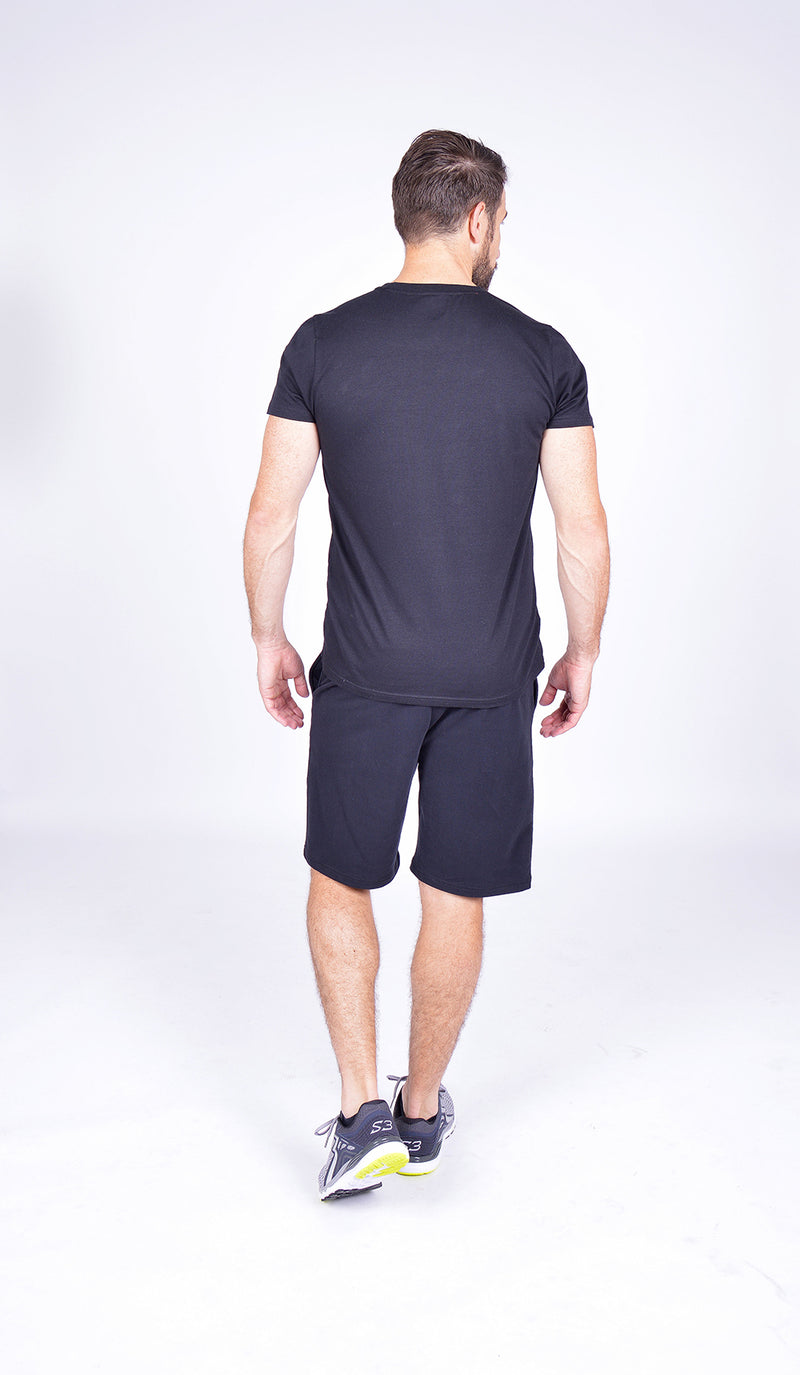MEN FLEECE SHORT BLACK M-1831-2