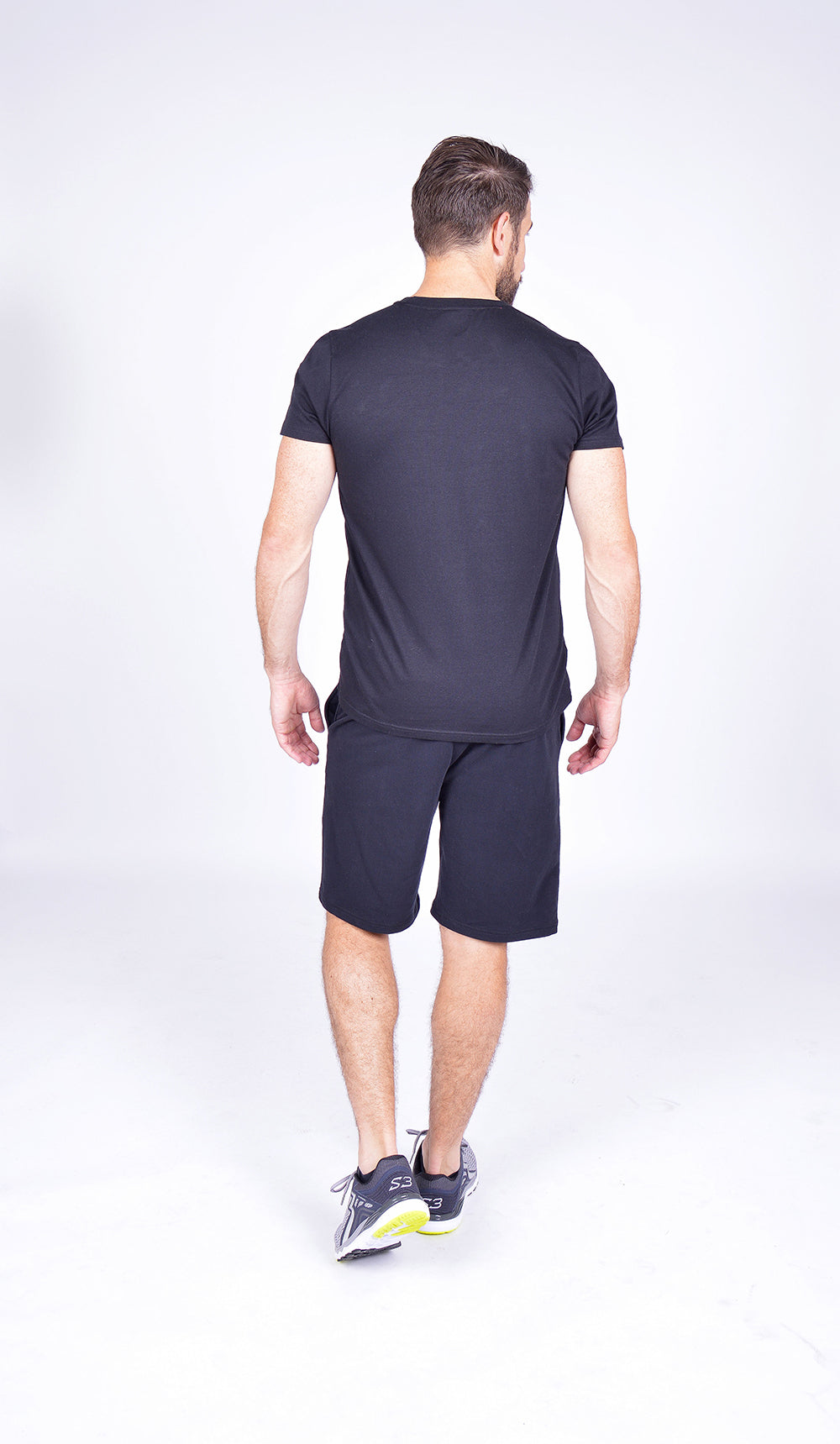 MEN LOGO SHORT SLEEVE TEE BLACK M-1812-2