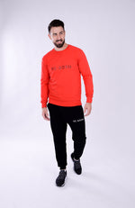 MEN LONG SLEEVE CREW NECK TOP RED M-1814-1