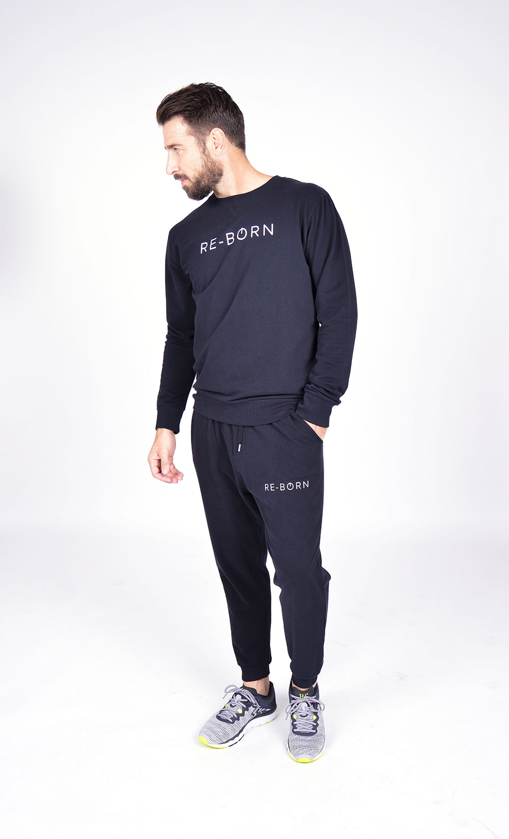 MEN FLEECE PANT BLACK M-1833-1