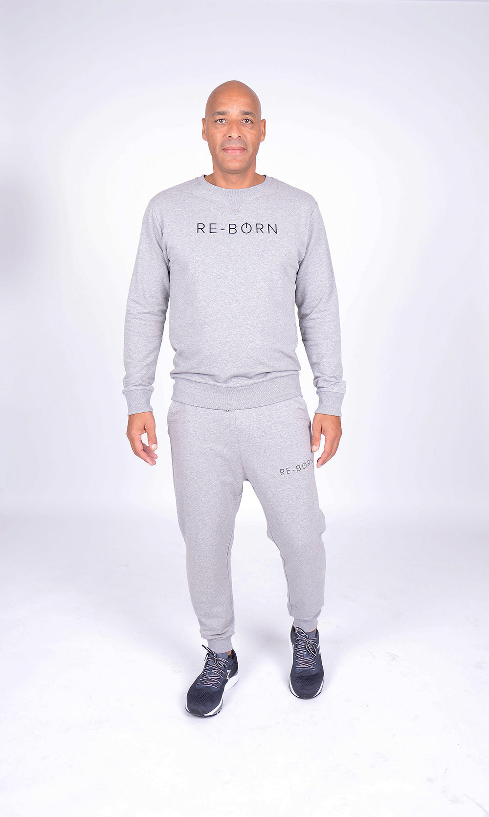 MEN LONG SLEEVE CREW NECK TOP GREY M-1814-1