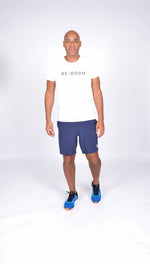 MEN WOVEN STRETCH SHORT NAVY M-1831-1