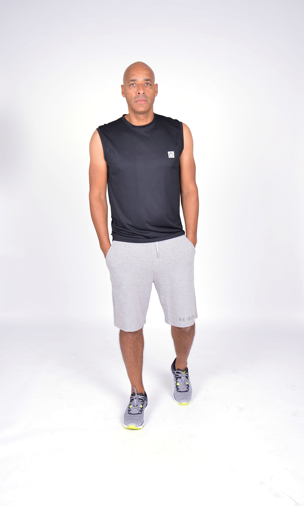 MEN FLEECE SHORT GREY M-1831-2