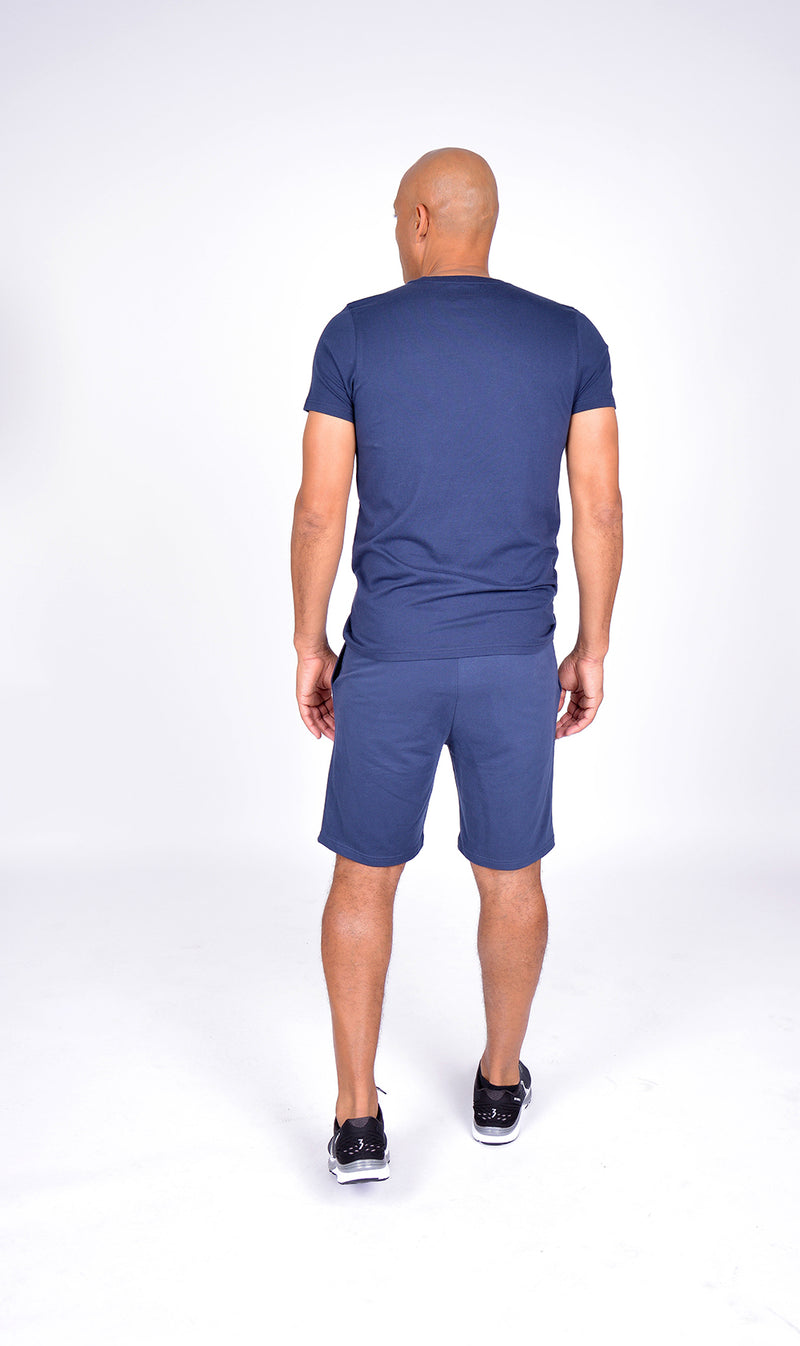 MEN LOGO SHORT SLEEVE TEE NAVY M-1812-2