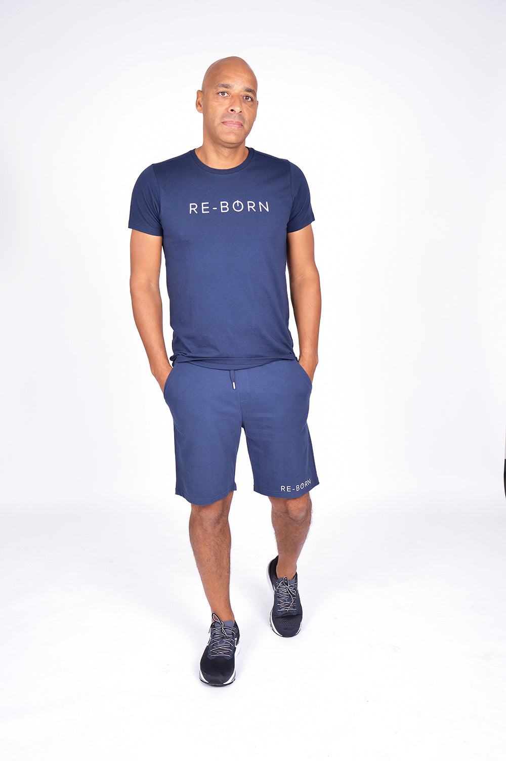 MEN FLEECE SHORT NAVY M-1831-2
