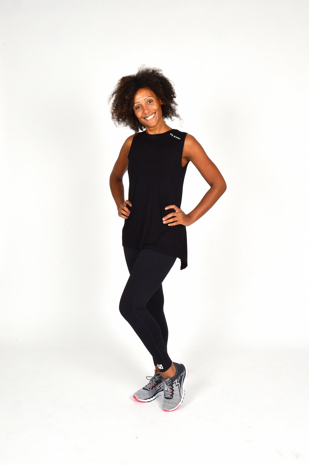 WOMEN SLEEVELESS WRAP TOP BLACK O-1811-2