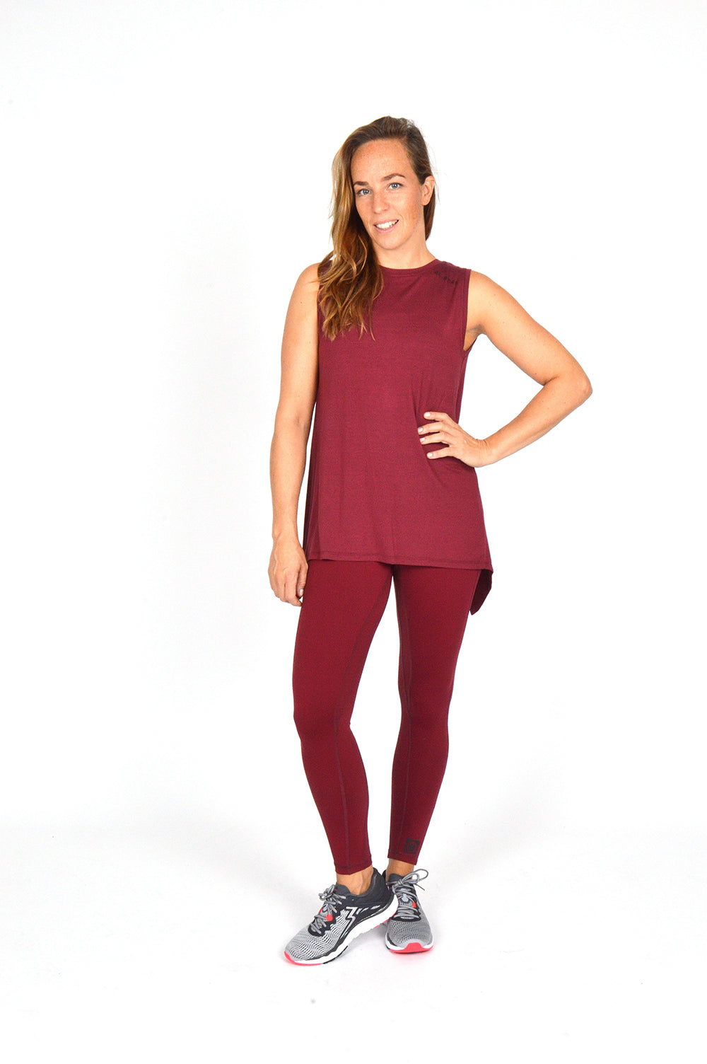 WOMEN SLEEVELESS WRAP TOP BURGUNDY O-1811-2
