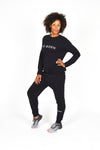 WOMEN FLEECE PANT BLACK O-1833-1