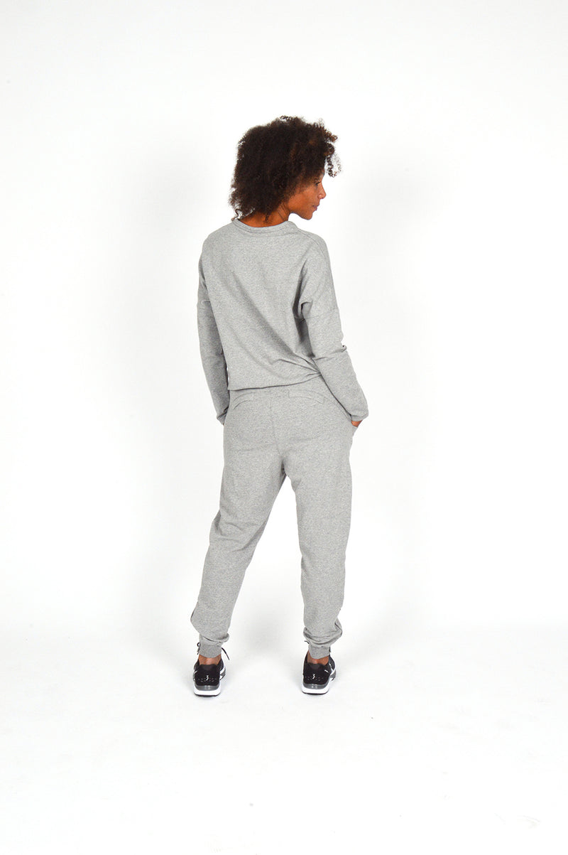WOMEN FLEECE PANT GREY O-1833-1