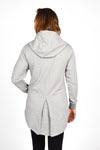 WOMEN LONG SLEEVE FULL ZIP HOODY GREY O-1816-1