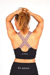 WOMENS X-OVER SPORTS BRA BLACK O-1819-1