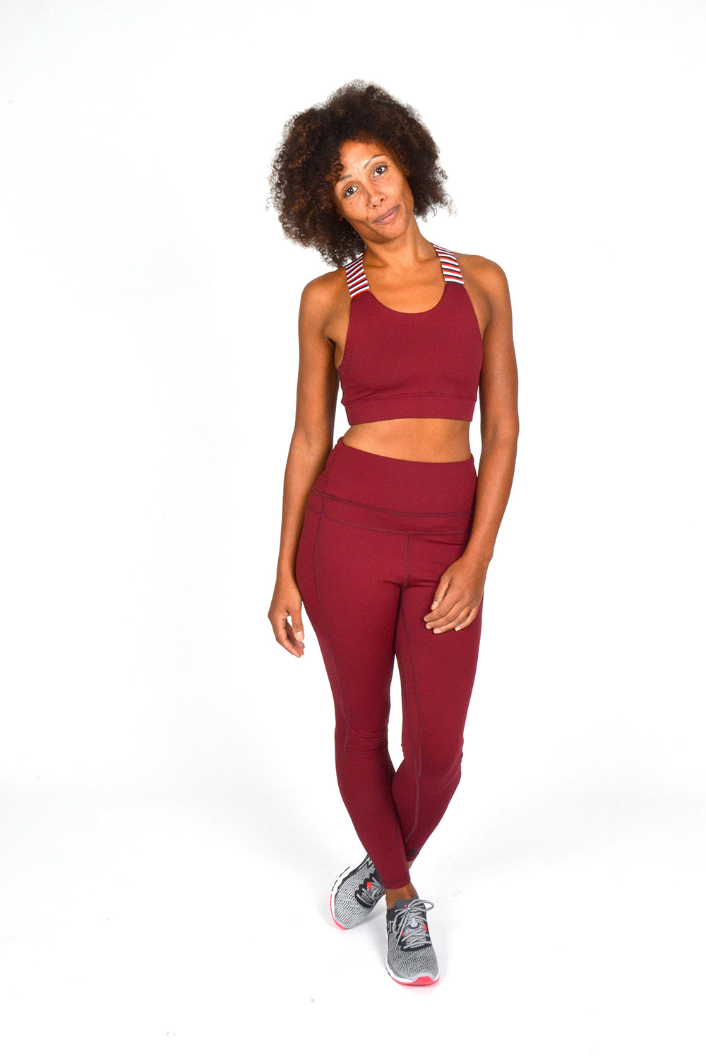 WOMEN LONG TIGHT BURGUNDY O-1835-1