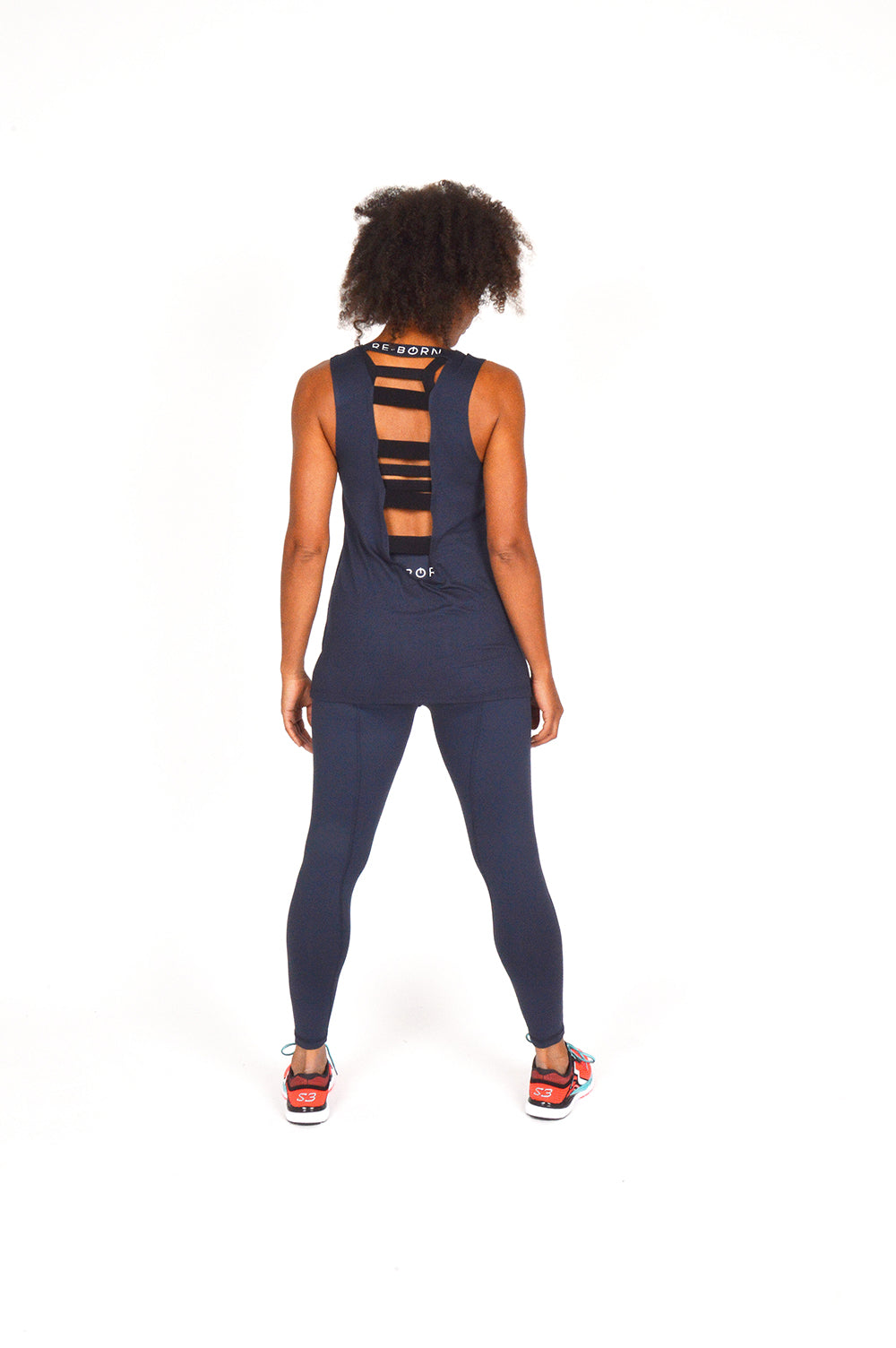 WOMEN LONG TIGHT NAVY O-1835-1