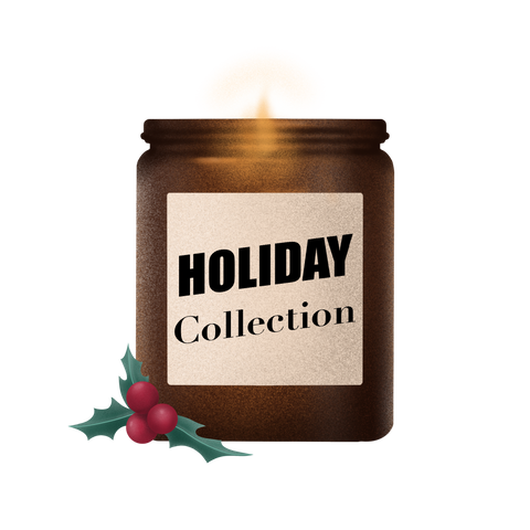 holiday Christmas handcrafted soy wax candle collection