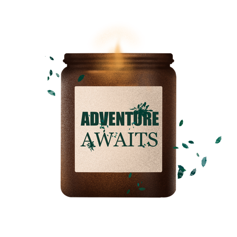 adventure awaits soy wax handcrafted candle collection