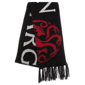 Game Of Thrones Jacquard Knit Targaryen Fire Cannot Kill A Dragon Scarf