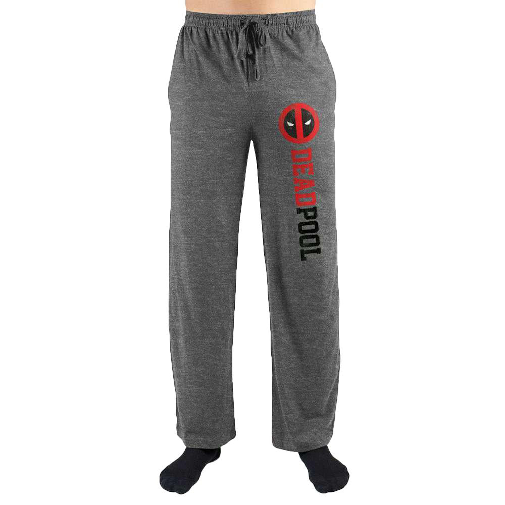 Marvel Comics Deadpool Mask Logo Print Men's Lounge Pants
