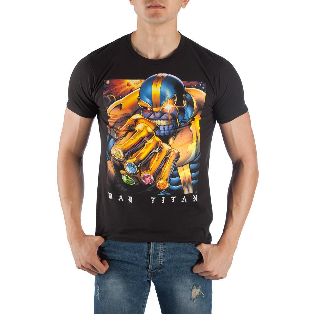 Thanos The Mad Titan Black T-Shirt Tee Shirt