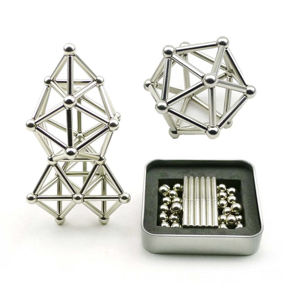 Magnetic Building Sticks and Bucky Balls