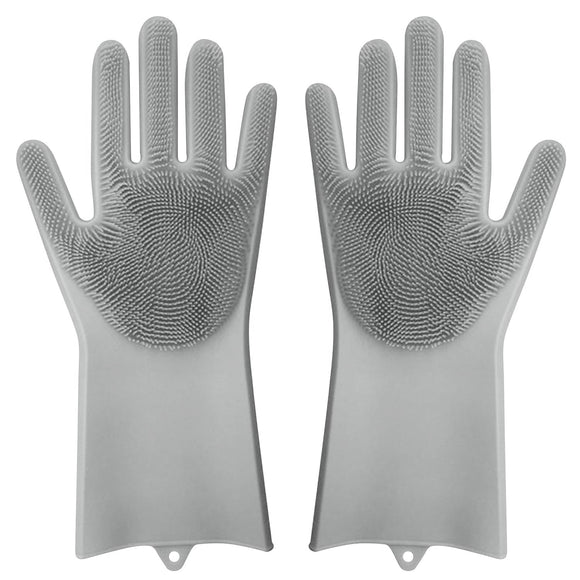 2-in-1 Silicone Gloves with Scrubbers