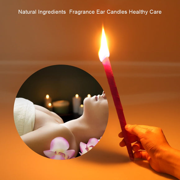 10Pcs/Set Ear Cleaner Ear Candles Earwax Removal Fragrance Candles Natural Ingredients Ear Coning Treatment Health Care Tool