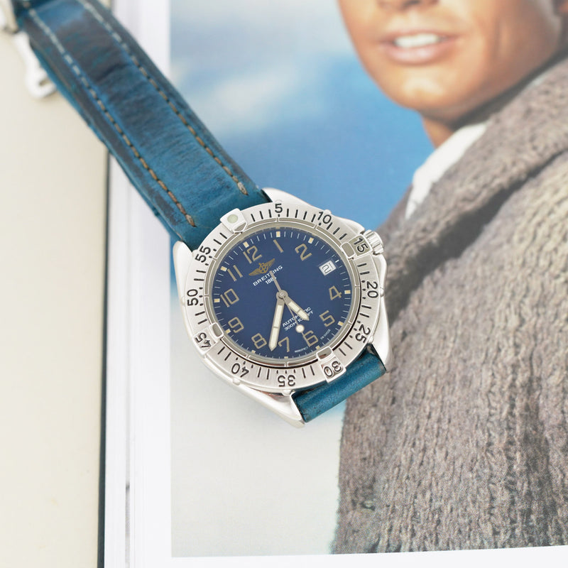 Breitling Colt Automatic Blue Dial A17035 - Subdial