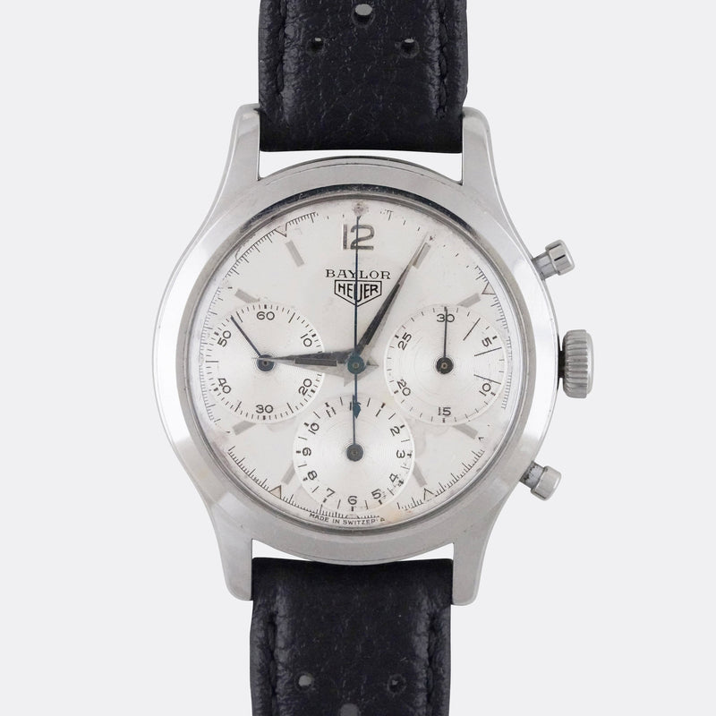 Heuer Chronograph Baylor Co-Signed Dial - Subdial