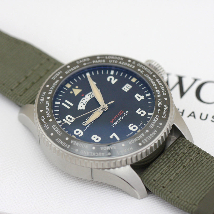 Watch - IWC Schaffhausen Pilot's Watch Timezoner Spitfire Edition 'The Longest Flight'