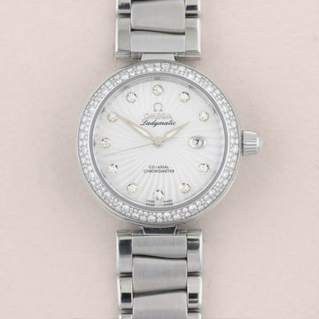 Omega De Ville Co-Axial Ladymatic Diamond - Subdial