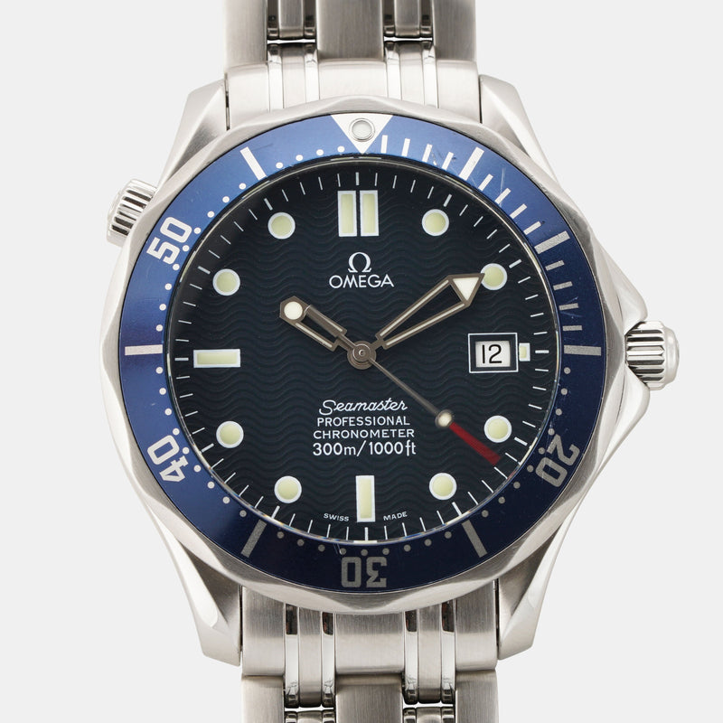 Omega Seamaster Diver 300m Blue Wavy 2531.80.00 - Subdial