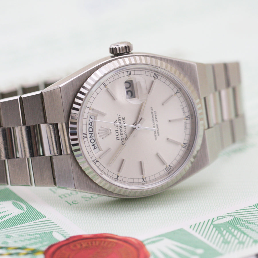 Rolex Day-Date Oysterquartz White Gold - Subdial