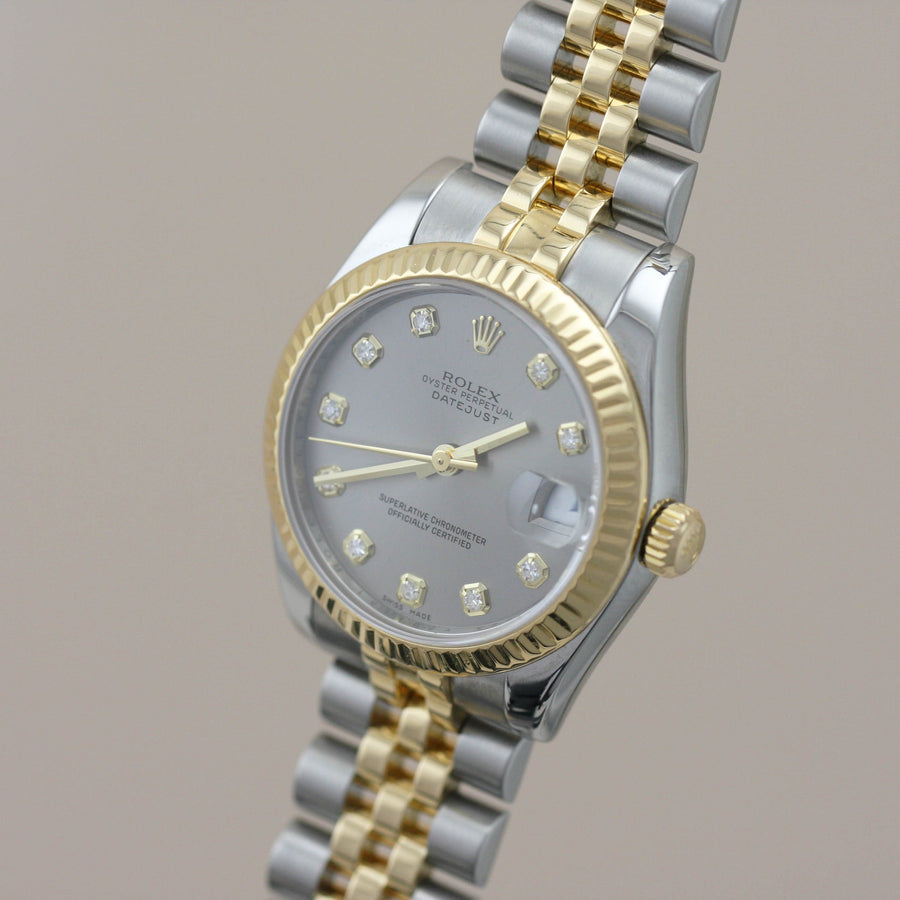 Rolex Lady-Datejust Bi-Metal, Diamond Dial - Subdial