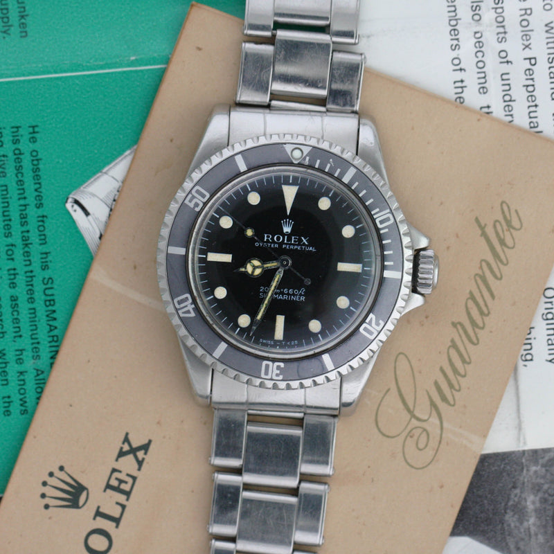 Rolex Submariner 5513, 1969 Ghost Bezel - Subdial