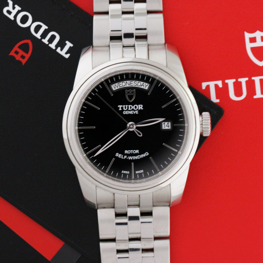Tudor Glamour Date-Day 56000 Black Dial - Subdial