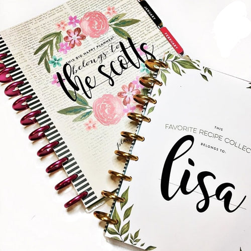 Personalized Planner Name Decal
