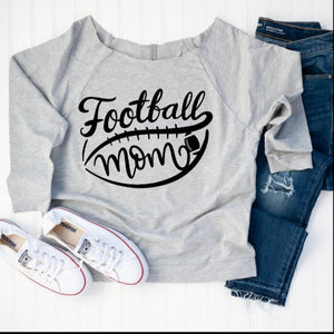 Football Mom Off Shoulder Tee