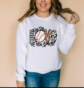 For The Love Of Baseball Long Sleeve