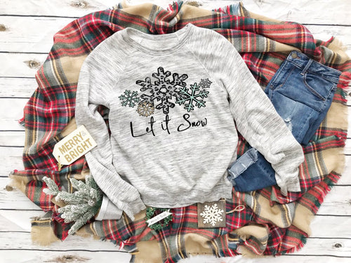 Let It Snow Sweater - Winter Sweater - Quoted Christmas Sweaters - Christmas Sweaters - Christmas Graphic Tees