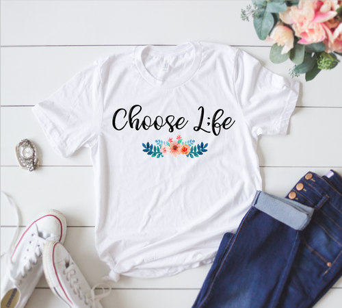 PACKAGE OF 25 Choose Life Shirts