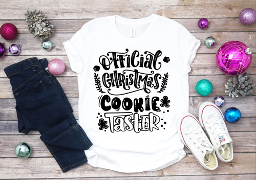 Official Christmas Cookie Tester Girls Christmas Shirts