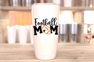 Football Mom Tumbler Decal FootballMom  Tumbler sticker Football Mom Decal