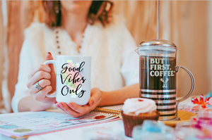 Good Vibes Only Motivation Inspired Quoted Coffee Mug