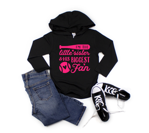 Little Sister Baseball Hooded Tee