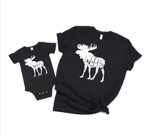Moose Family Outdoor Matching Teees  Mommy and Me matching shirts