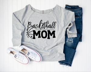 Basketball Mom Off Shoulder Tee