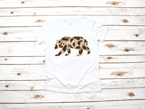 Leopard Explore Bear Youth Shirt