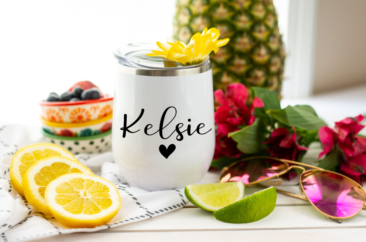Personalized vinyl name decal name sticker tumbler name stickers